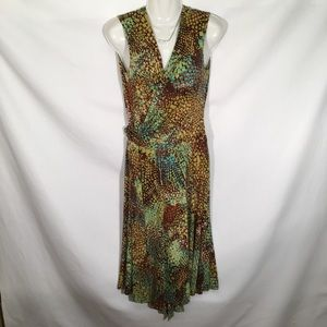Jones New York Yellow Wrap Dress Sz 12